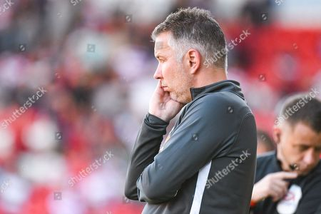 Darren Ferguson of Peterborough United (Manager) reacts during the EFL Sky Bet League 1 match between Doncaster Rovers and Peterborough United at the Keepmoat Stadium, Doncaster