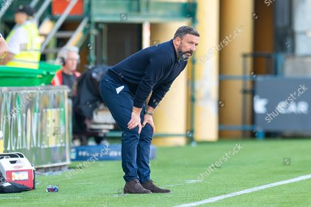 Aberdeen manager Derek McInnes watches from the technical area during the Ladbrokes Scottish Premiership match between Livingston FC and Aberdeen FC at The Tony Macaroni Arena, Livingston
