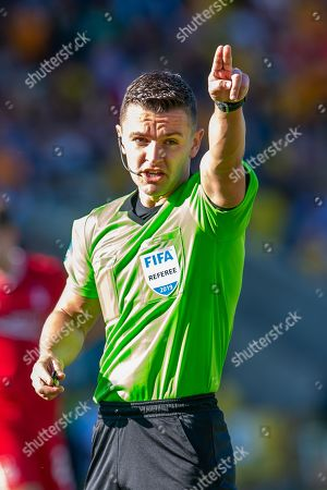 Referee Nick Walsh during the Ladbrokes Scottish Premiership match between Livingston FC and Aberdeen FC at The Tony Macaroni Arena, Livingston