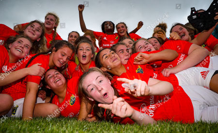 Ulster Women U18 vs Munster Women U18. Munster's Emma Connolly celebrates with her team mates after the game