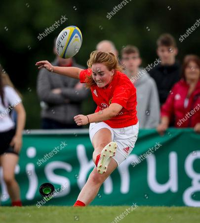 Ulster Women U18 vs Munster Women U18. Munster's Emma Connolly kicks a conversion