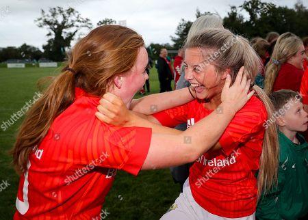 Ulster Women U18 vs Munster Women U18. Munster's Emma Connolly celebrates with Abbie Salter Townshend
