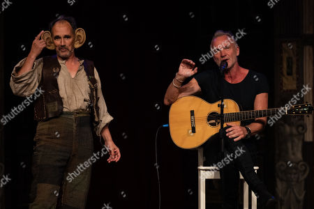 Mark Rylance as the Big Friendly Giant (BFG) and Sting