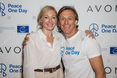 Peace One Day ambassador Juliet Rylance and Peace One Day founder Jeremy Gilley