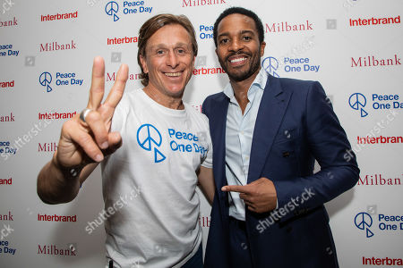 Peace One Day founder Jeremy Gilley and Andre Holland