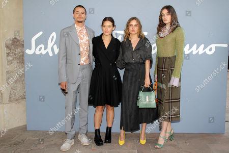 Editorial image of Salvatore Ferragamo show, Arrivals, Spring Summer 2020, Milan Fashion Week, Italy - 21 Sep 2019
