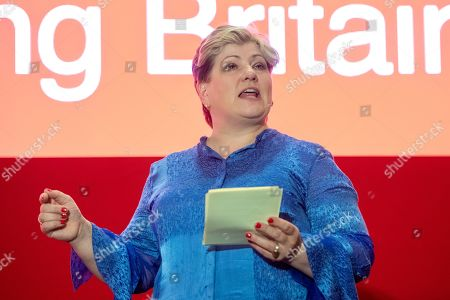 Stock Image of Emily Thornbury MP speech at a Labour party conference fringe meeting 'LabourList: Rebuilding Britain, with Unite'