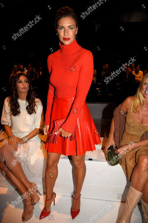 Martina Colombari in the front row