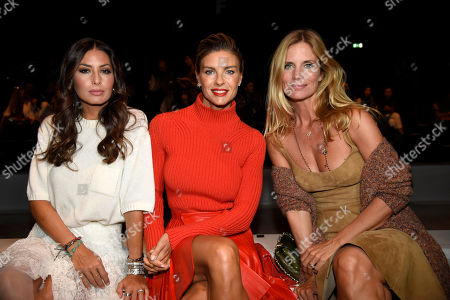 Stock Picture of Filippa Lagerback, Martina Colombari and Elisabetta Gregoraci in the front row