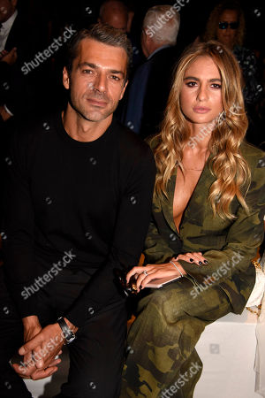 Luca Argentero and Myriam Catania in the front row