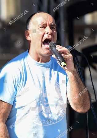 Tommy Sheridan during the rally.