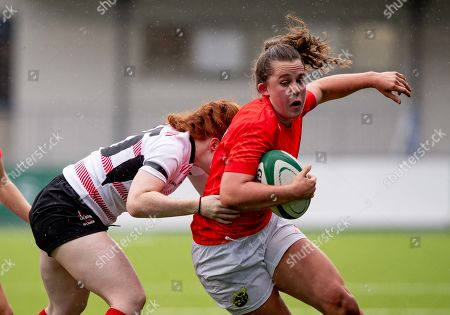 Munster Women vs Ulster Women. Munster's Enya Breen with Ella Durkan of Ulster