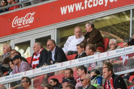 president and Vorsitzender des Aufsichtsrates Uli Hoeness (FC Bayern Muenchen), Vorstandsvorsitzender Karl-Heinz Rummenigge (FC Bayern Muenchen) and Alfons Schubeck, FC Bayern Muenchen - 1.FC Koeln, Bundesliga, 21.09.2019 DFL REGULATIONS PROHIBIT ANY USE OF PHOTOGRAPHS AS IMAGE SEQUENCES AND/OR QUASI-VIDEO