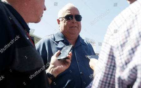 San Diego Padres executive chairman and co-owner Ron Fowler talks after a news conference about firing manager Andy Green in San Diego