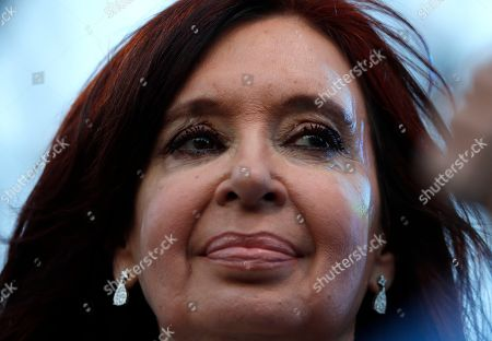 """Stock Photo of Former President Cristina Fernandez attends the presentation of her book in Buenos Aires, Argentina, . Fernandez returns to the public eye in Argentina on Saturday in an event to present her book """"Sincerely"""" just weeks out from presidential election in which the former two-term leader is running as vice presidential candidate in an opposition ticket"""