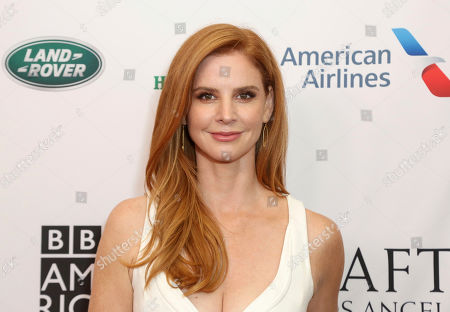 Sarah Rafferty arrives at the 2019 Primetime Emmy Awards - BAFTA Los Angeles TV Tea Party at the Beverly Hilton, in Beverly Hills, Calif