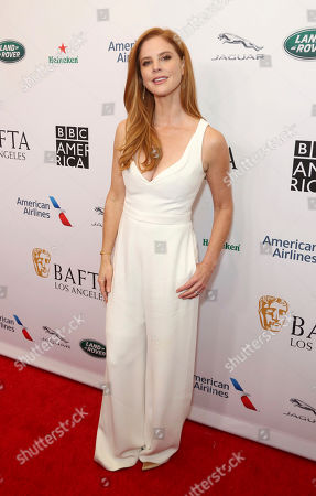 Stock Picture of Sarah Rafferty arrives at the 2019 Primetime Emmy Awards - BAFTA Los Angeles TV Tea Party at the Beverly Hilton, in Beverly Hills, Calif