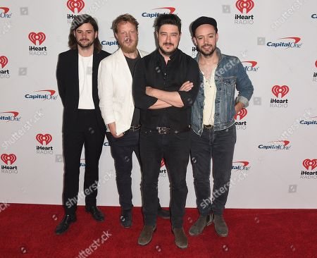Mumford & Sons - Ben Lovett, Marcus Mumford, Winston Marshall and Ted Dwane