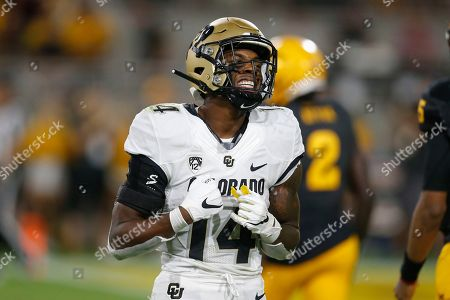 Colorado cornerback Chris Miller (14) in the first half during an NCAA college football game against Arizona State, in Tempe, Ariz