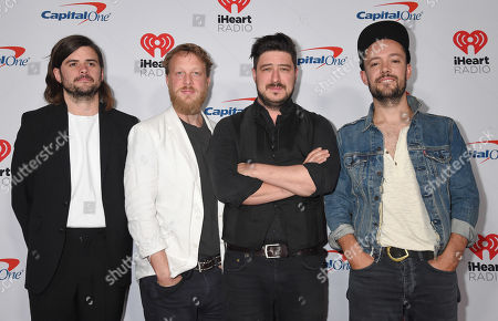 Mumford & Sons - Winston Marshall, Ted Dwane, Marcus Mumford and Ben Lovett