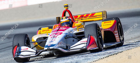 Stock Photo of Monterey, CA, U.S.A. Andretti Autosport driver Ryan Hunter-Reay (28) coming out of turn 3 during the Firestone Grand Prix of Monterey IndyCar Practice # 3 at Weathertech Raceway Laguna Seca Monterey, CA Thurman James / CSM