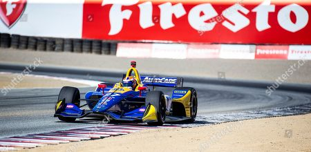 Monterey, CA, U.S.A. Andretti Autosport driver Alexander Rossi (27) coming out of turn 3 during the Firestone Grand Prix of Monterey IndyCar Practice # 3 at Weathertech Raceway Laguna Seca Monterey, CA Thurman James / CSM