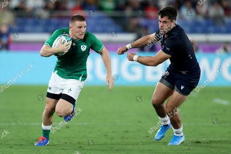 Ireland vs Scotland. Ireland's Andrew Conway and Sean Maitland of Scotland