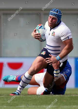 Stock Photo of Leonardo Ghiraldini of Italy in action during the Rugby World Cup match between Italy and Namibia at Hanzono Stadium in Higashiosaka, Japan, 22 September 2019