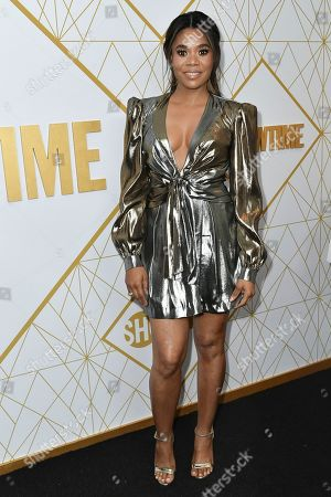Regina Hall attends the 2019 Primetime Emmy Awards - Showtime Emmy Eve party at the San Vicente Bungalows, in West Hollywood, Calif