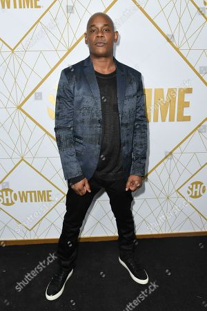 Bokeem Woodbine attends the 2019 Primetime Emmy Awards - Showtime Emmy Eve party at the San Vicente Bungalows, in West Hollywood, Calif