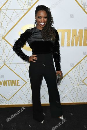 Shanola Hampton attends the 2019 Primetime Emmy Awards - Showtime Emmy Eve party at the San Vicente Bungalows, in West Hollywood, Calif