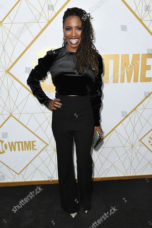 Stock Picture of Shanola Hampton attends the 2019 Primetime Emmy Awards - Showtime Emmy Eve party at the San Vicente Bungalows, in West Hollywood, Calif