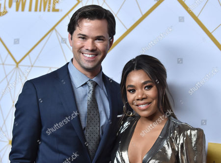 Stock Image of Andrew Rannells and Regina Hall