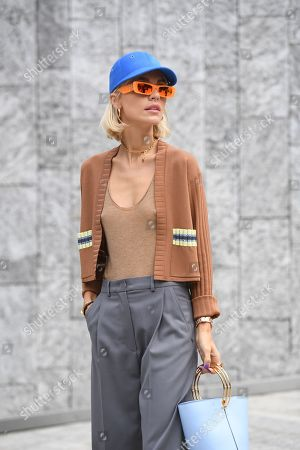 Editorial picture of Street Style, Spring Summer 2020, Milan Fashion Week, Italy - 20 Sep 2019