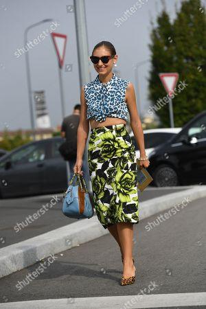Editorial photo of Street Style, Spring Summer 2020, Milan Fashion Week, Italy - 20 Sep 2019