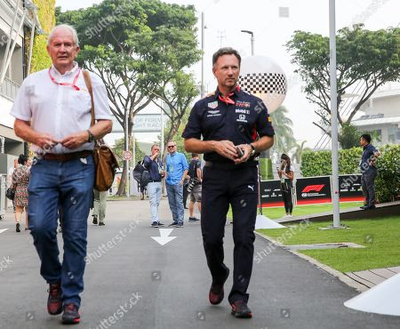 Stock Picture of Team Principal - Christian Horner, Red Bull Racing arrives in the paddock ahead of the Formula 1 Singapore Grand Prix 2019 at Marina Bay Street Circuit