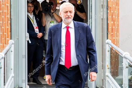 Leader of the Labour Party and MP for Islington North Jeremy Corbyn is seen after taking part in the Andrew Marr Show from Brighton on Sunday morning.