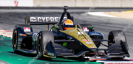 Stock Picture of Monterey, CA, U.S.A. Schmidt Peterson Motorsports driver James Hinchcliffe (5) coming out of turn11 heading down the home straight away during the Firestone Grand Prix of Monterey IndyCar Qualifying at Weathertech Raceway Laguna Seca Monterey, CA Thurman James / CSM
