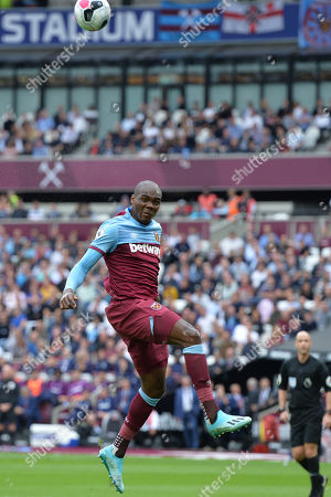 Angelo Ogbonna of West Ham United heads clear during West Ham United vs Manchester United, Premier League Football at The London Stadium on 22nd September 2019