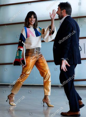 Antonio de la Torre (R) and actress Belen Cuesta (L) pose during the presentation of the film 'La trinchera infinita' (lit. The infinite trench) at the 67th San Sebastian International Film Festival (SSIFF), in San Sebastian, Spain, 22 September 2019. The festival runs from 20 to 28 September.