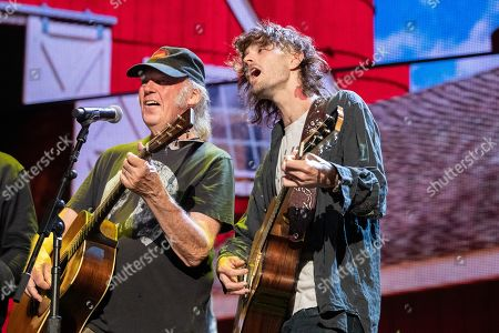 Stock Picture of Neil Young and Micah Nelson