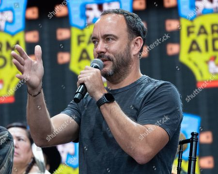Dave Matthews speaks during a news conference