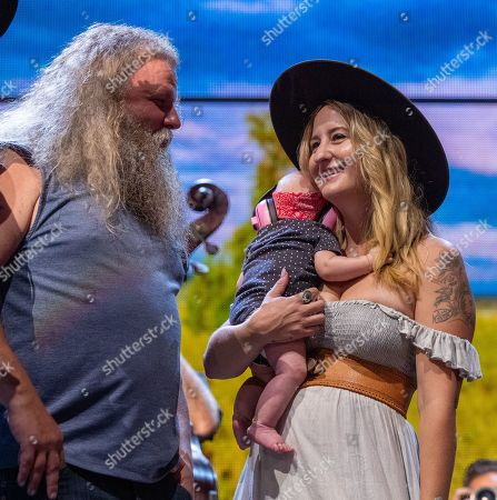 Jamey Johnson, Margo Price and her baby Ramona Lynn Ivey