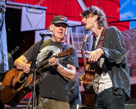 Neil Young and Micah Nelson