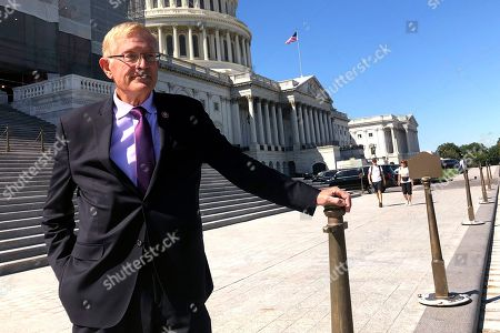 Rep. Paul Cook, R-Calif., poses for a photo outside the U.S. Capitol in Washington, . Cook served 26 years as a Marine, earning two Purple Heart medals for combat wounds suffered in Vietnam. But amid his seventh year in Congress, the aching and discouraged California Republican has decided he's endured enough