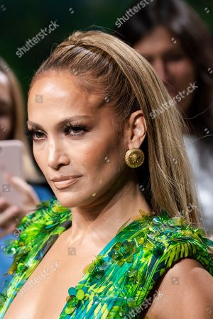 Stock Picture of Jennifer Lopez on the catwalk