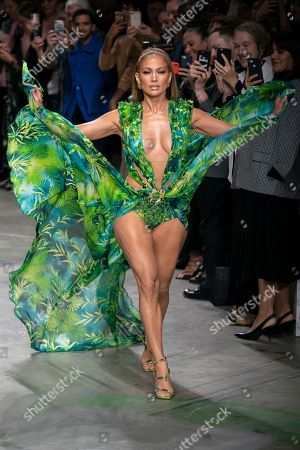 Stock Photo of Jennifer Lopez on the catwalk