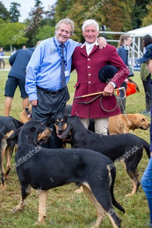 The Duke of Marlborough poses with Brian Temple the senior Master with the Farmers Blood Hounds Pack.