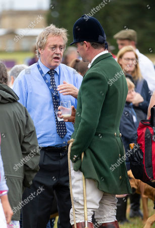 The Duke of Marlborough meets the hounds in the main ring at the Ssangyong Blenheim Horse Trails.