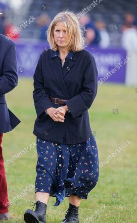 Stock Photo of The Duchess of Marlborough at the presentation ceremony at the end of the Ssangyong Blenheim Horse Trails.